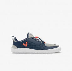 Vivobarefoot PRIMUS JUNIOR Navy Gray Orange Txt